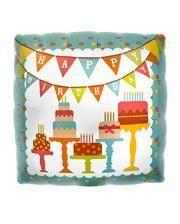 Folienballon Happy Birthday Kuchen