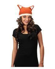 Wool hat with fox ears