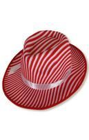 Gangster Hat White / Red