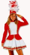 Carnival Guard Costume Red White