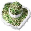 Banknote Hat with Dollar Bills