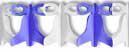 Glocken Girlande Blau Weiß