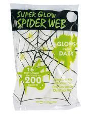 Glow in the Dark Spinnennetz 60gr.