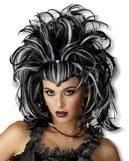 Gothic Devil Wig white black