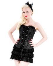 Gothic Corsagenkleid schwarz
