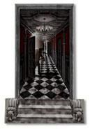 Gothic horror corridor wall film