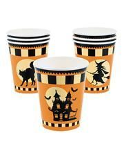 "Halloween Paper Cup ""Haunted House"" 8 St."