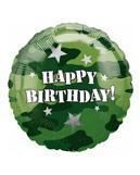 Happy Birthday Camouflage Folienballon