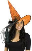 Glitter Witch Hat Orange