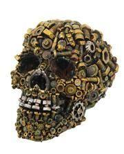 Steampunk Skull with rusty screws