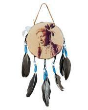 Indianer Trommel mit Federn