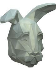 Low Poly Hasen Maske