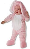 Pinker Hase Kids Costume S