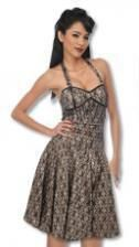 Lace halter dress in cream color