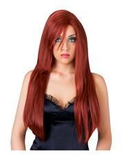 Longhair wig for women mahogany