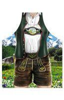 Bavarian Lederhosen motif apron