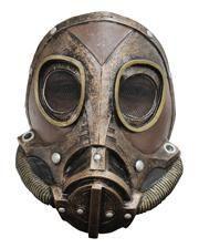 Steampunk Latex Gasmaske