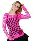 Pink net top