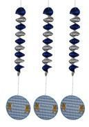 Oktoberfest ceiling spiral set of 3
