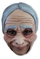 Oma Maske mit Falten