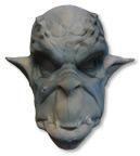 Ork Maske Schaumlatex blau-grau