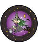 Paper plates witch