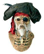 Piraten Maske mit Hut