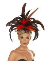 Burlesque Headband with feathers
