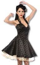 Satin petticoat dress with leopard pattern