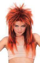 Rockstar Perücke Neon Orange