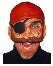 Pirate Half Mask Evil Bill