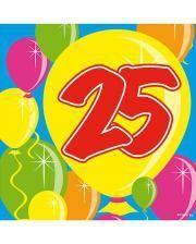 Napkins Balloon 25
