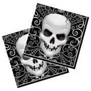 Halloween napkins with skull