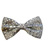 Sequin Bow Silver