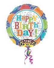 "Singing Foil balloon ""Happy Birthday"""