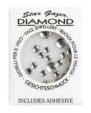 Stargazer Face Diamonds Silber