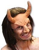 Teufel Halbmaske mit Haar