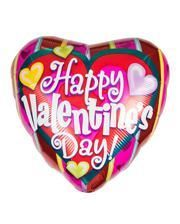 Happy Valentine`s Day Kunterbunter foil balloon