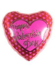 Happy Valentins Day Folienballon mit Punkten