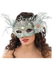 Venezianische Maske mit Glitzer