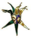 Venetian Mask Jolly Ladies Mask Green/Gold