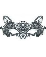 Venetian mask fabric cat