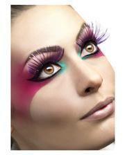 Eyelashes violet / metallic