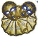 Wanddeko Zwillingsclown gold