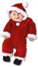 Weihnachtsmann Babykostüm