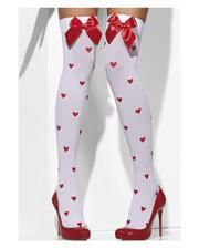White Overknees with Heart & Bow