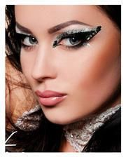 Xotic Eyes Glitter Black Silver