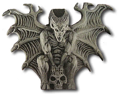 Gargoyle with skull wall decoration partydekoratin for for Gargoyle decor