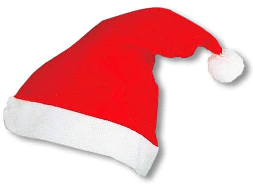 santa claus hat economy santa hat of red felt horror. Black Bedroom Furniture Sets. Home Design Ideas