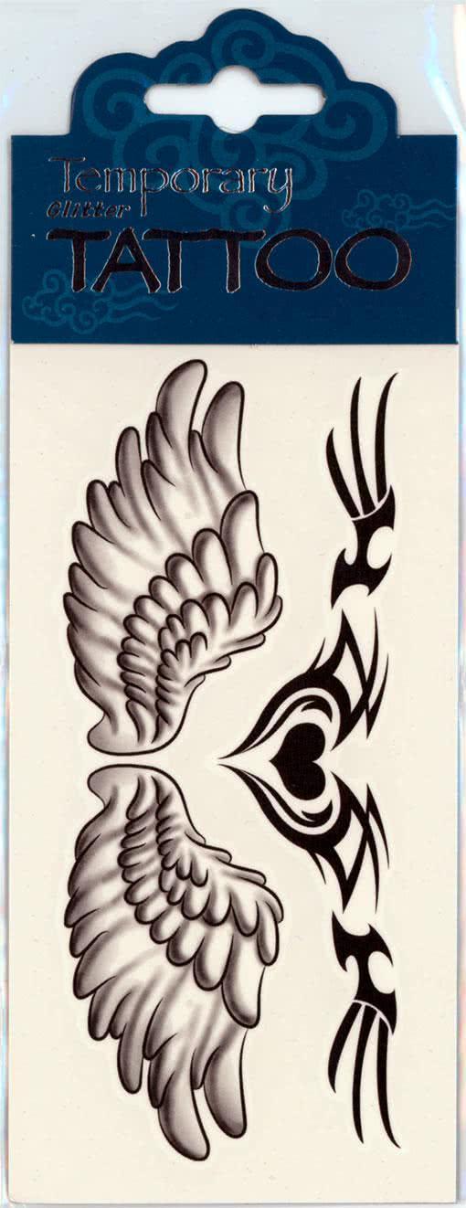 fl gel tattoo angel wings coole klebetattoo online. Black Bedroom Furniture Sets. Home Design Ideas